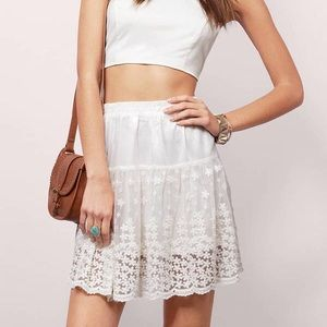 Tobi White Skirt